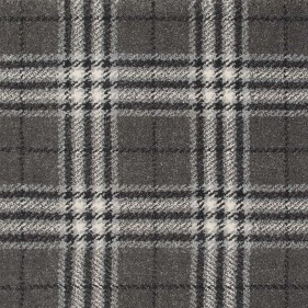 Grey Traditional Tartan Queensville Wilton Carpet