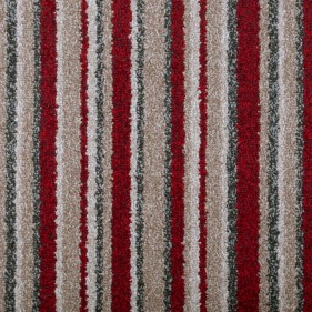 Fire Line 14 Noble Striped Saxony Collection Carpet - far